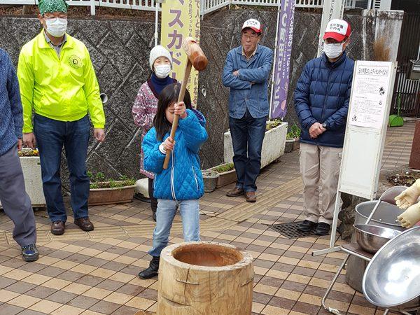 2017年2月町内会だより 餅つき体験会が開催されました