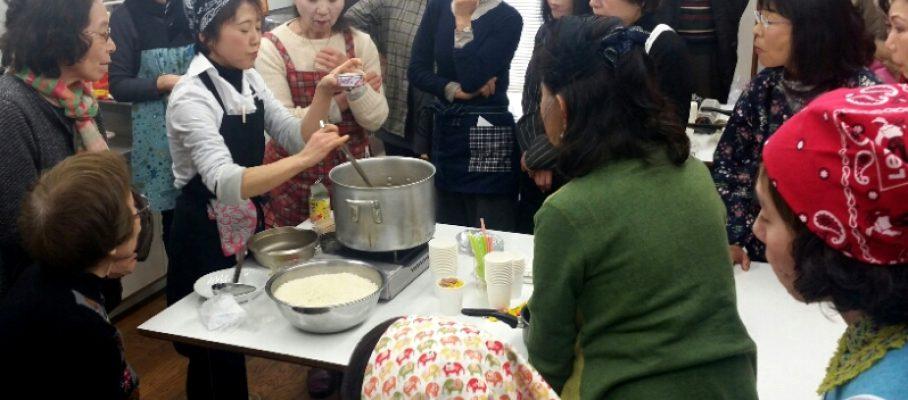 2017年3月町内会だより 身近な防災学習と非常食の調理実習そして試食